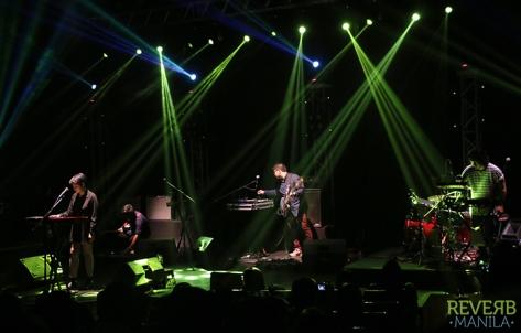 Up Dharma Down's Armi Millare (Vocalist, Keyboard), Carlos Tanada (Lead Guitar). Paul Yap (Bass), and Ean ()
